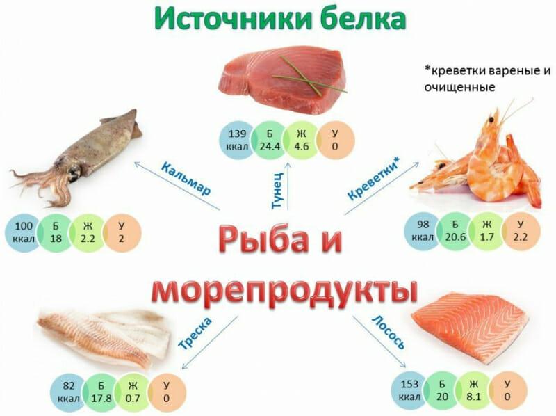 Продукты с малым количеством белка